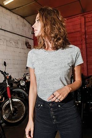 T-shirt vintage manches courtes femme Kariban KV2107 2019