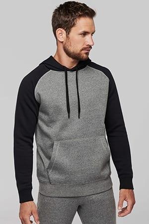 Sweat-shirt capuche bicolore adulte Proact PA369 2019