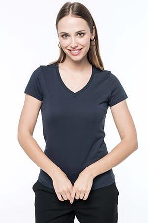 T-shirt Supima® col V manches courtes femme Kariban K3003 2019