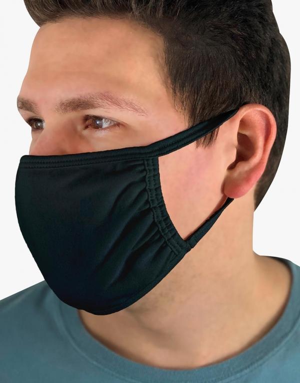 masque à personnaliser noir stamp